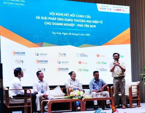 Doanh nghiệp tỉnh Kon Tum tham gia kết nối cung cầu trên nền tảng thương mại điện tử tại tỉnh Phú Yên năm 2019.