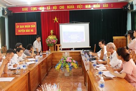 Sở Công Thương tổ chức làm việc với các huyện Kon Plông, Tu Mơ Rông, Đắk Hà về việc triển khai Chương trình thương mại điện tử năm 2019.