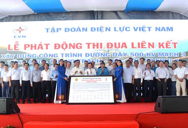 Phát động thi đua đẩy nhanh tiến độ công trình đường dây 500 kV mạch 3 Vũng Áng-Quảng Trạch-Dốc Sỏi-Pleiku 2