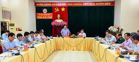 Đoàn công tác Bộ Công Thương làm việc tại tỉnh Kon Tum