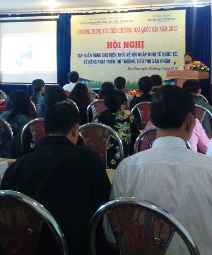 Tập huấn nâng cao kiến thức về Hội nhập kinh tế Quốc tế, kỹ năng phát triển thị trường, tiêu thụ sản phẩm